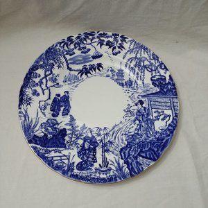 "Royal Crown Derby Blue Mikado Dinner Plate 10 3/8"""